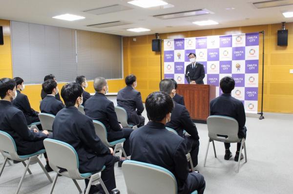 市長表敬訪問 柔道部・ソフトテニス部全国大会出場